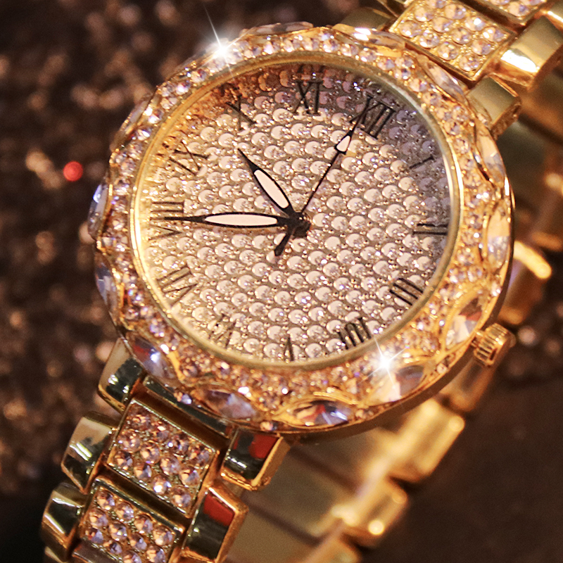 Women's Watches Luxury Gold Watch Women Bracelet Ladies Diamond Stainless Steel Xfcs Analog Female Quartz Wristwatch Clock