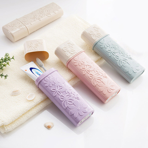 Travel Toothbrush Case Portable Toothbrush Tube Cover Toothpaste Storage Box Holder for Travel Hiking Camping
