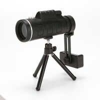 40X60 Zoom HD IR visión nocturna Monocular infrarrojo binoculares telescopio teléfono soporte trípode para caza Camping senderismo