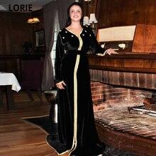 Простые черные марокканские платья lorie официальные с аппликацией