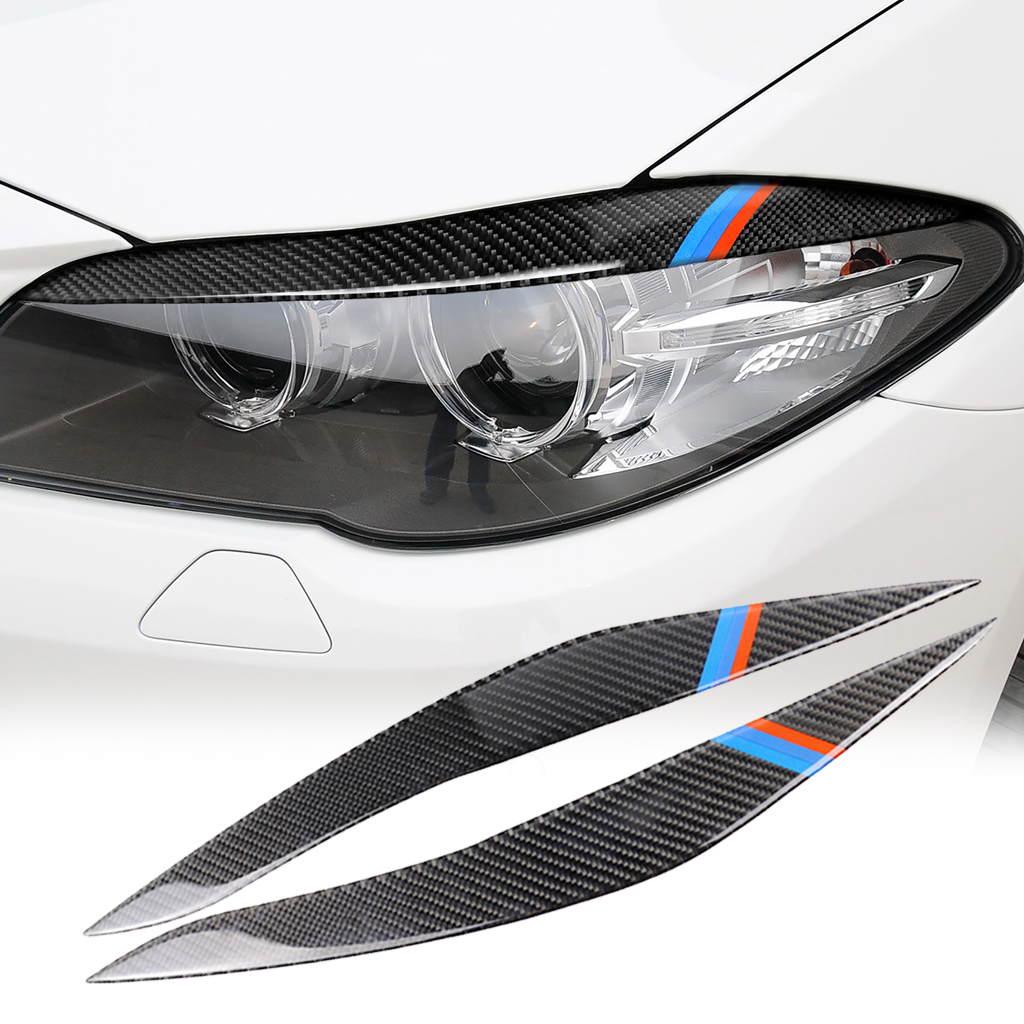 1 Pair Car Headlight Eyebrows Cover For BMW 5 Series F10 2010-2013 Trim Decal Decor Headlight Eyebrows
