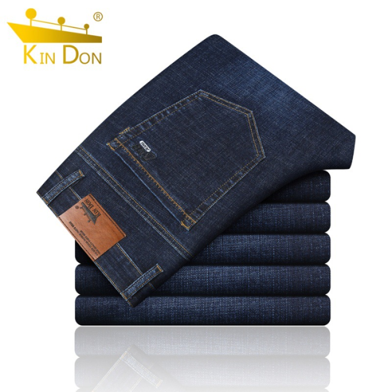 Kin Don/kin Don Jeans Loose-Fit Men's Straight-Cut Loose-Fit Thin Business Casual Trousers Men'S Wear Elasticity Pants