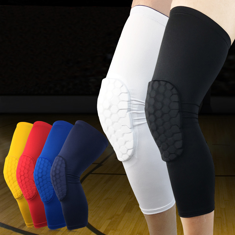 1PC Basketball Knee Pads Sleeve Honeycomb Brace Elastic Kneepad Protective Gear Patella Foam Support Volleyball Support K004