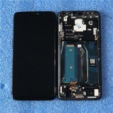 """6.28 """"מקורי סופר Amoled Axisinternational עבור OnePlus 6 Oneplus 6 LCD תצוגת מסך עם מסגרת + לוח מגע Digitizer"""