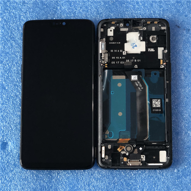 """6.28"""" Original Super Amoled Axisinternational For OnePlus 6 Oneplus 6 LCD Display Screen  With Frame+Touch Panel Digitizer"""