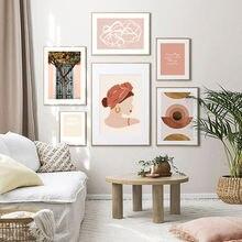 Современный трендовый абстрактный Модный женский тканевый постер