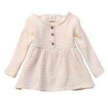 WEIXINBUY/милая детская одежда; хлопковая рубашка для девочек; топы принцессы на лето, весну, осень; Сарафан