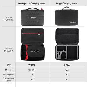 Image 2 - Vamson for Go pro Accessories Kits Bag for Gopro Hero 8 Black 7 6 5 Waterproof Case PU for DJI Yi Hard Shell Storage box VP808