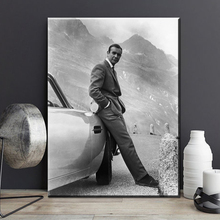 SEAN CONNERY. 007, JAMES BOND GOLDFINGER 1964, GOLDFINGER DIRECTED MOVIE Art Print poster on canvas for wall decoration fleming i goldfinger