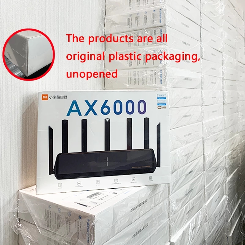 2021 New Xiaomi Router AX6000 WiFi6 AIoT Router 6000Mbs VPN 512MB Qualcomm CPU Mesh Repeater External Signal Network Amplifier 2