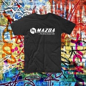 Classic Mazda rotary shirt logo printed tee R100 RX2 RX3 RX7 RX8 custom printed(China)