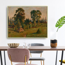 Citon Levitan Isaak Iliich《Forest Landscape》Canvas Oil Painting Art Poster Picture Modern Wall Decor Home Living room Decoration canvas painting primeval forest landscape wall artposter and print modern home decoration wall picture living room office decor