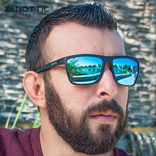 ZENOTTIC Ultralight TR90 polarize güneş gözlüğü erkekler kare aynalı kaplama sürüş güneş gözlüğü erkek UV400 gözlüğü seyahat tonları