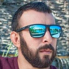 Zenottic ultralight tr90 polarizado óculos de sol dos homens quadrado revestimento espelhado condução óculos de sol masculino uv400 óculos de viagem tons
