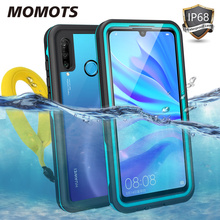 MOMOTS Waterproof Case for Huawei P30 Lite P30 Pro 360 Shockproof Case for Huawei P40 Pro P20 Pro P20 Lite Clear Cover