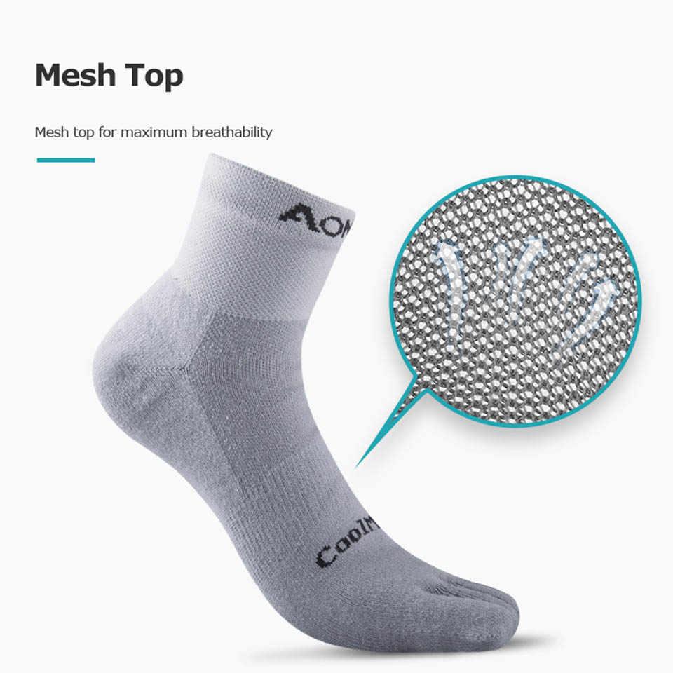 AONIJIE 1 Paar Leichte Low Cut Sportlich Kappe Socken Viertel Socken Für Fünf Finger Socken Yoga Laufschuhe Marathon Rennen