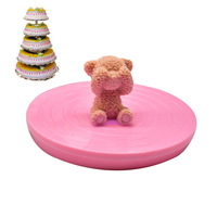DIY Bakery Appliances 14 Cm Color Decorating Plastic Small Turntable Lightweight Stable Cake Turntable Decorative Turntable|Crepe Makers| |  -