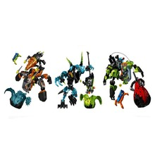 Hero Factory 6.0 Robot Block Toys 3 in 1 Crawler Tunneler Beast vs Surge Cystal brick
