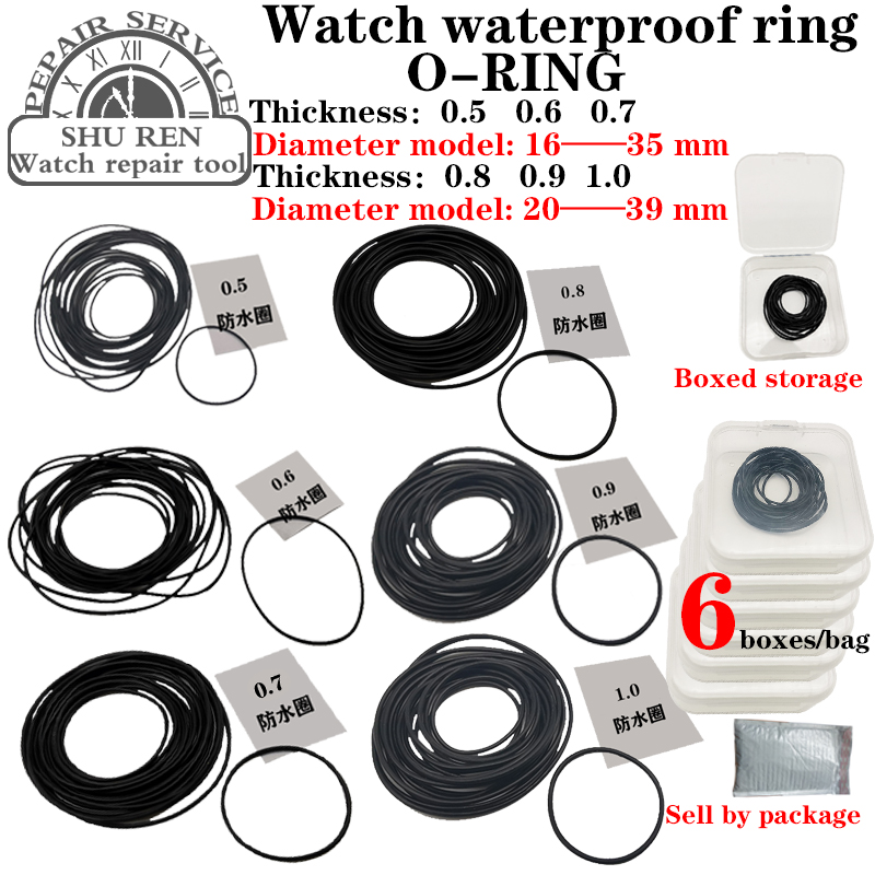 Watch gasket,Thickness 0.5/0.6/0.7/0.8/0.9/1.0mm, watch waterproof ring, O-RING, watch o-ring,o-ring gasket,ring watch