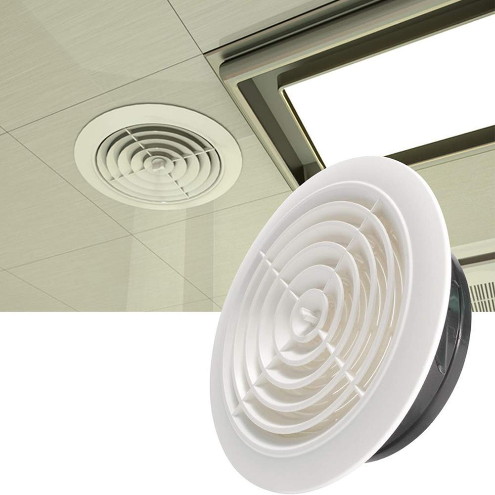 1pc 3/4/5/6 Inch Louver Air Vent Grille Exhaust Fan Outlet Ceiling Wall Mount Round Bathroom Indoor Fresh Air Cooling Vents