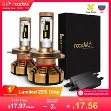 Roadsun H7 H4 Led Auto Scheinwerfer Lampen Mit ZES Chips H1 LED H11 H8 H9 HB3 9005 HB4 9006 12V 6000K 12000LM Lampe Auto Lampe Leuchtet