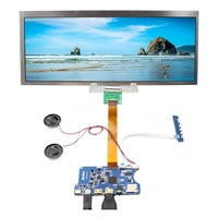 """Tüketici Elektroniği'ten Yedek Parçalar ve Aksesuarlar'de C tipi HDMI TF kart LCD denetleyici kontrast oranı 1000:1 kurulu 12.3 """"HSD123KPW1 A30 1920X720 LCD ekran"""