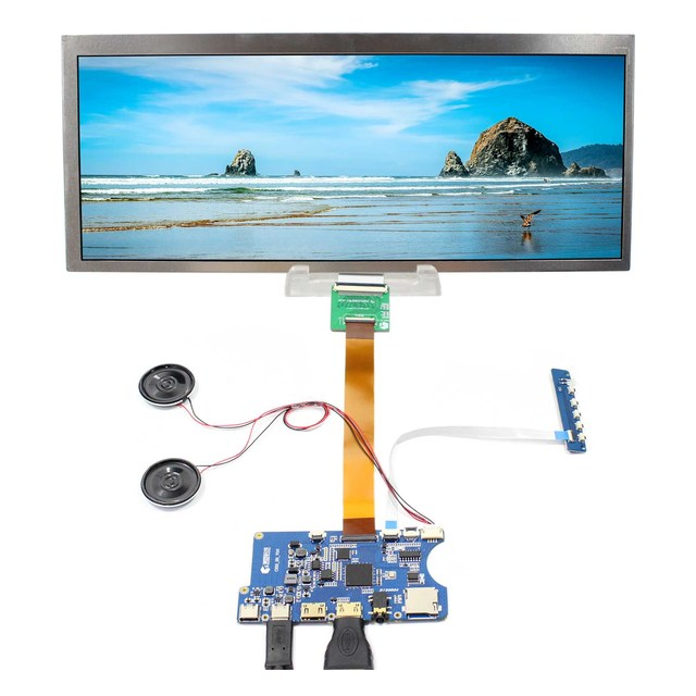 "Type C HDMI TF Card LCD Controller Contrast Ratio 1000:1 Board 12.3"" HSD123KPW1 A30  HSD123KPW2 D10 1920X720 LCD Screen"