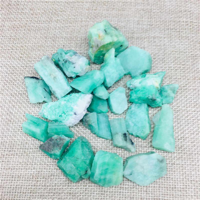 5g ธรรมชาติหยาบ Run Emerald และ Mineral reiki รักษาคริสตัลเดิมอัญมณีตัวอย่างทำเครื่องประดับ