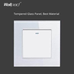 Image 5 - Wallpad Crystal hartowane białe szkło Panel 16A ue 110V 240V podwójne gniazdo ścienne ue 172*86MM rozmiar