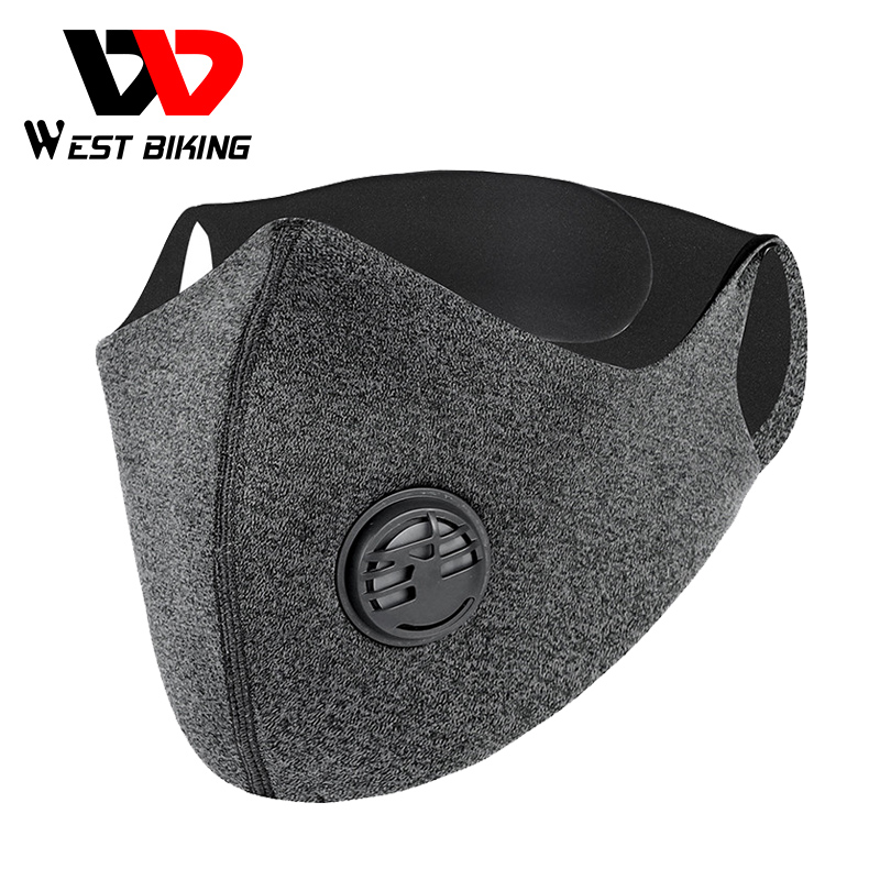 WEST BIKING KN95 Masks PM2.5 Anti Pollution Sport Face Mask Cycling Bike Bicycle Activated Carbon Protective Mask With Filter