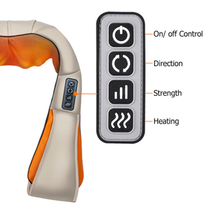 Image 3 - U Shape Electrical Shiatsu Massager Shawl Fast Shipping Neck Shoulder Finger Massage Infrared 4D kneading Car Home Health Care