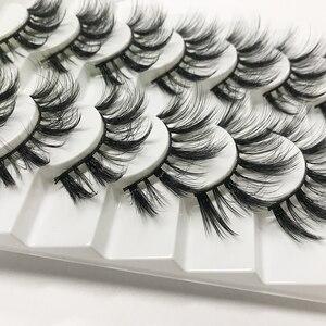 LEKGAVD 8 Pairs 3D Mink False Eyelashes Natural Wispy Fluffy Dramatic Volume Fake Lashes Extension Handmade Cruelty-free Eyelash