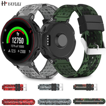 Yayuu Printed Silicone Watch Band For Garmin Forerunner 220/230/235/620/630/735XT Bracelet Replacement Wrist Strap Buckle Band