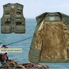 Негабаритный утепленный флисовый теплый жилет с несколькими карманами, одежда для походов и рыбалки, ветрозащитная одежда M/L/XL/XXL/XXXL/XXXXL