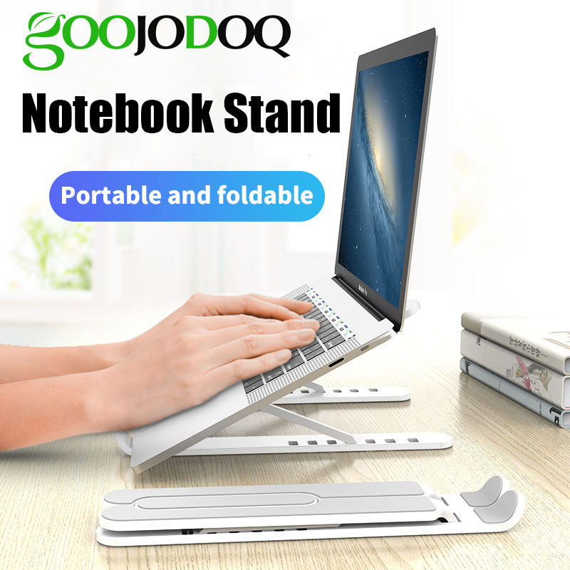 GOOJODOQ Adjustable Foldable Laptop Stand Non-slip Desktop Notebook Holder Laptop Stand For Macbook Pro Air iPad Pro DELL HP title=