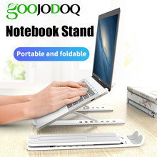 GOOJODOQ regulowany składany stojak na laptopa antypoślizgowy uchwyt na notebooka stojak na laptopa do Macbook Pro Air iPad Pro DELL HP(China)