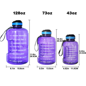 Image 5 - QuiFit 3.78L 2.2L 1.3L 128oz 1 Gallon Water Bottle with Straw Clear Plastic Drinking Bottles Big GYM Jug Cup BPA Free GYM Sports