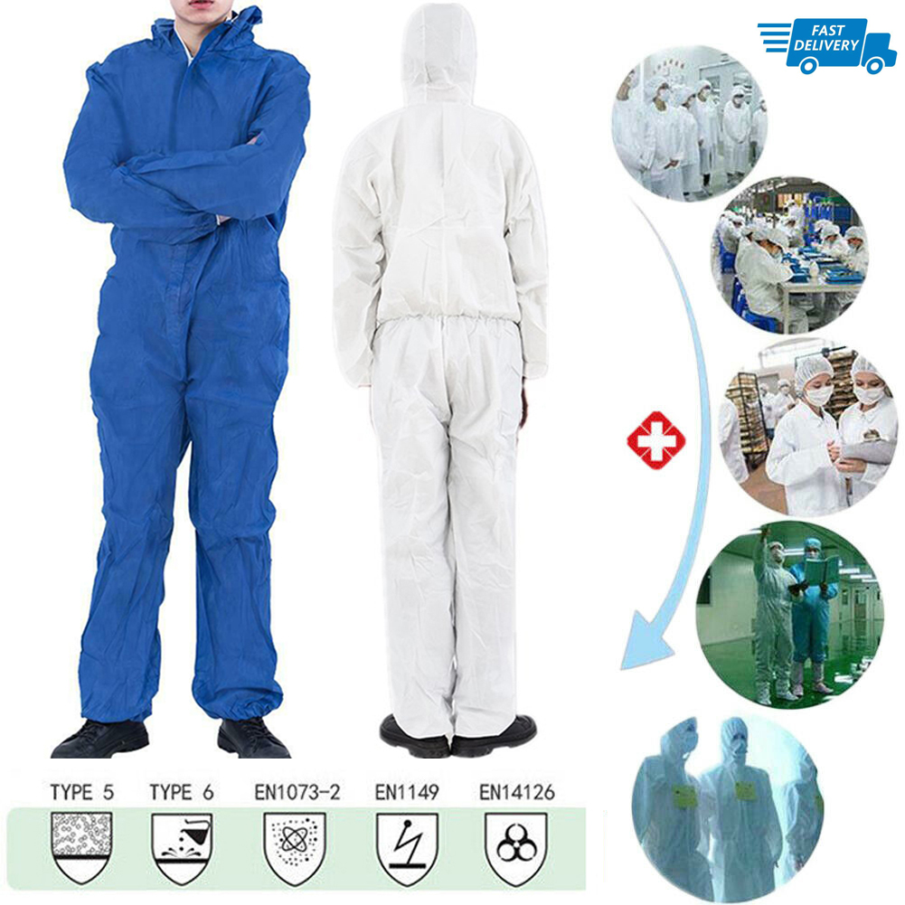 Anti-Virus Reusable Coverall Hazmat Suit Protective Protective Clothing Anti-Bbacterial Work Medical Isolation Suit Lab Coats