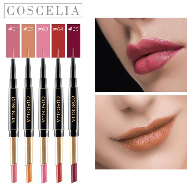 COSCELIA 15 Colors Waterproof Matte Lipstick Red Lip Long Lasting Lipstick Matte For Makeup Red Lip Matte Long Lasting Gift 4