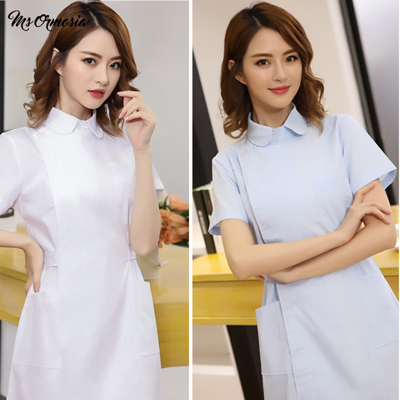 MSORMOSIA Medical Uniforms Clothes Spot White Coats Medical Spa Hospital Gown Lab Coat Nurse Scrub Uniform Pharmacy Veterinary