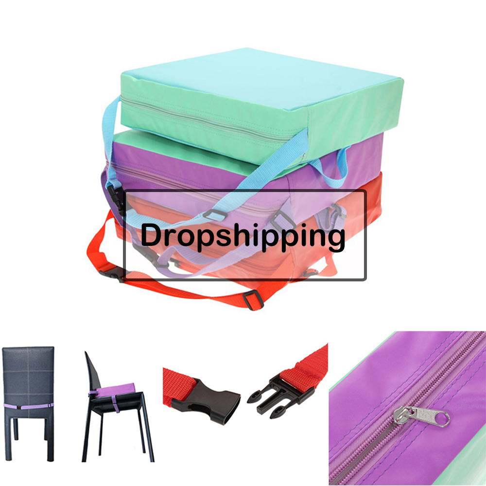 Children Increased Chair Pad Soft Baby Children Dining Cushion Adjustable Removable Chair Booster Cushion Pram Chair Pad