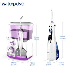 Image 2 - Waterpulse V300 + V400Plus su Flosser ile Set 9 İpuçları elektrikli Dental Oral irigatör pensesinde hijyeni ağız bakımı aile kullanımı için