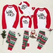 Рождественские пижамы для всей семьи, комплект рождественской одежды костюм для родителей и детей Домашняя одежда для сна новые одинаковые комплекты для семьи, для папы и мамы