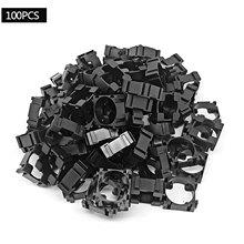 100 pçs bateria de lítio pacote suporte de bateria espaçador celular duplo suporte de bateria diy suporte de suporte de bateria