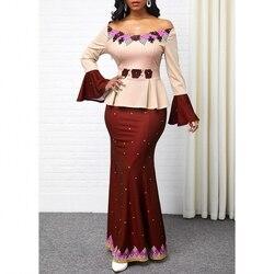 S-5XL, большие размеры, африканские длинные платья для женщин, 2020, африканская одежда, африканские платья, Дашики, женская одежда, Анкара, африк...