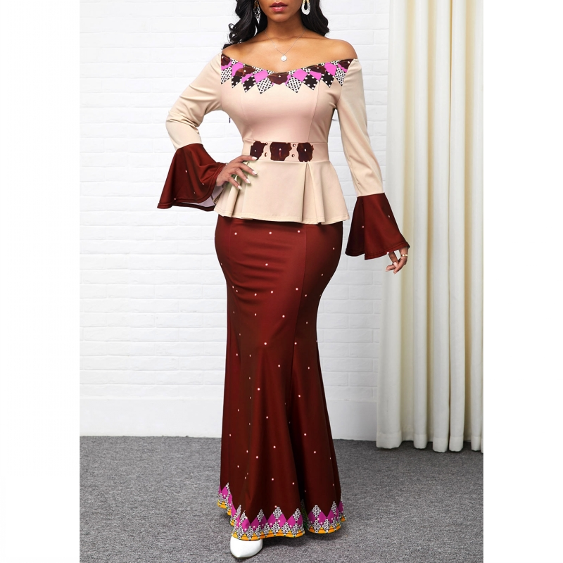 S-5XL Plus Size African Long Dresses For Women 2020 African Clothes Africa Dress Dashiki Ladies Clothing Ankara Africa Dress