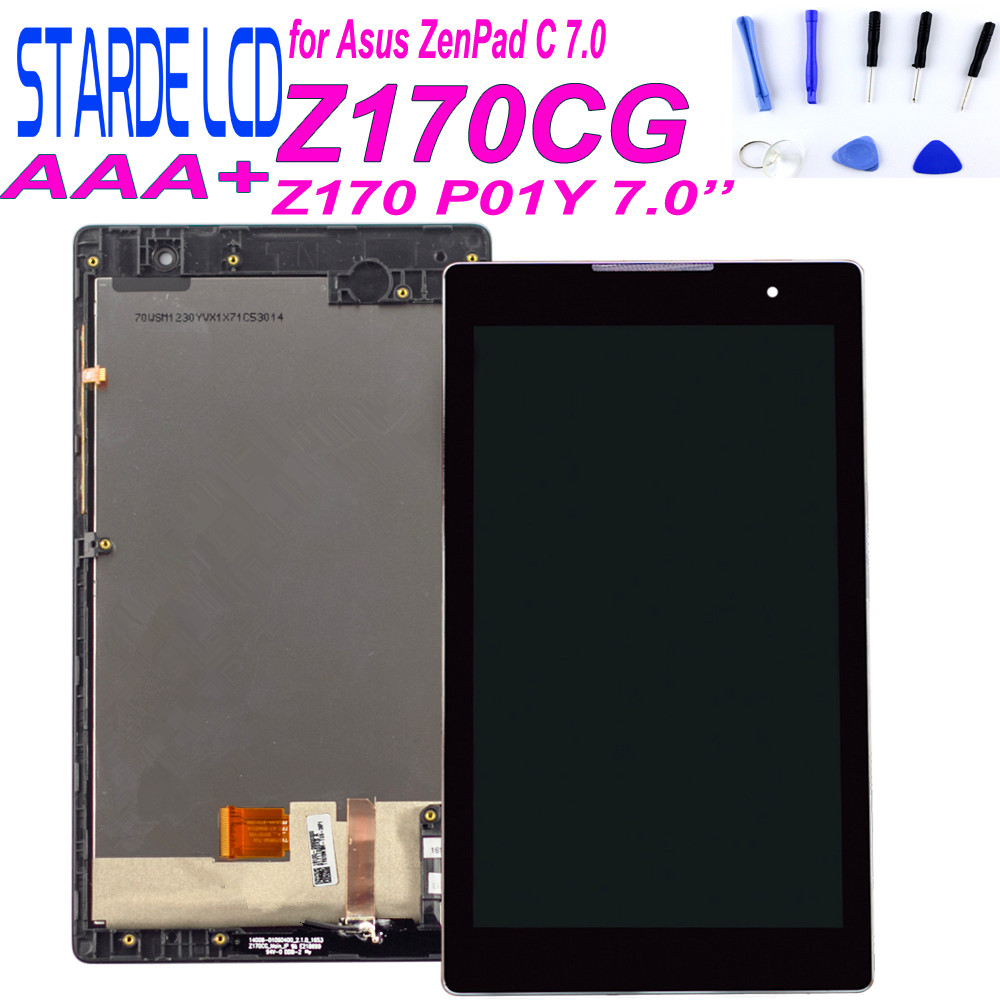 For Asus Zenpad C 7.0 Z170CG P01Y Z170 LCD Display Touch Screen Digitizer Assembly With Frame Free Tools Include