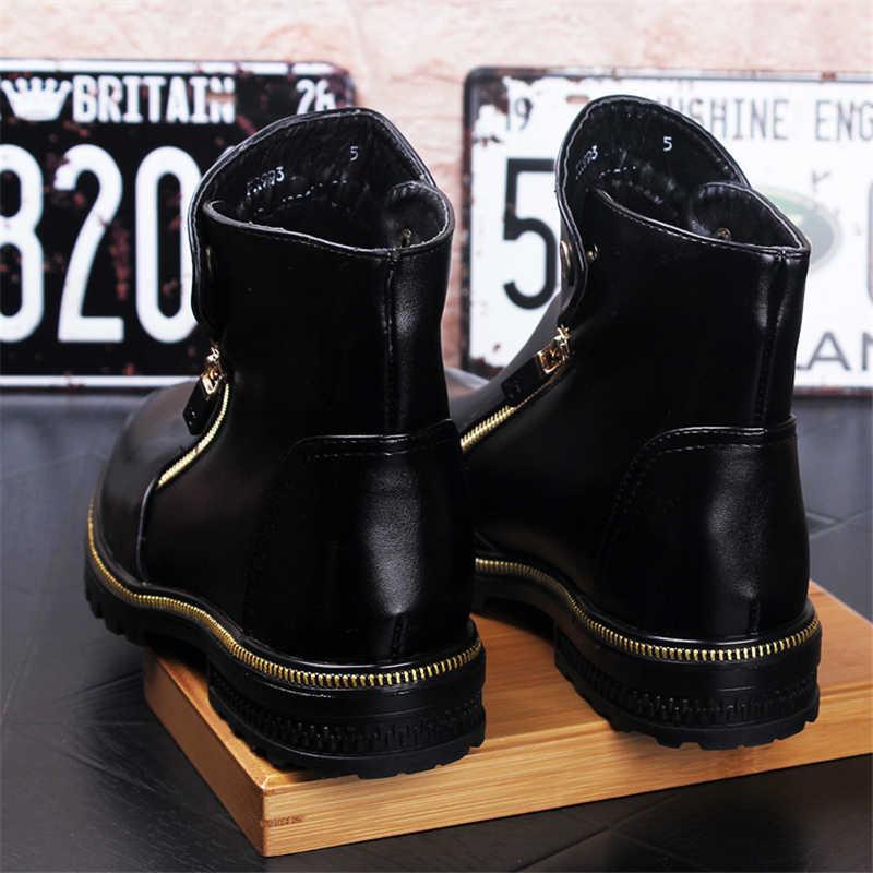 Yeni Erkek Kış Botları Erkek Deri Çizmeler Güvenlik Ayakkabıları Sıcak Erkek Botları Tutmak iş ayakkabısı Moda Chelsea Çizmeler Sonbahar Kış erkek ayakkabısı