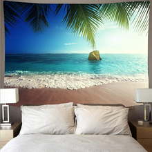 Beautiful beach wave plant landscape tapestry polyester wall cloth art tapestry hippie wall hanging psychedelic beach towel janeyu new cosmos star velvet multifunctional polyester tapestry hanging beach towel