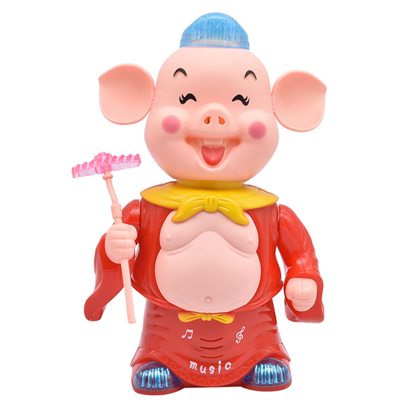 Electronic Toys Pig Dancing Music Walking Toy Singing Musical Lighting For Children Kid Toys For Children,Red